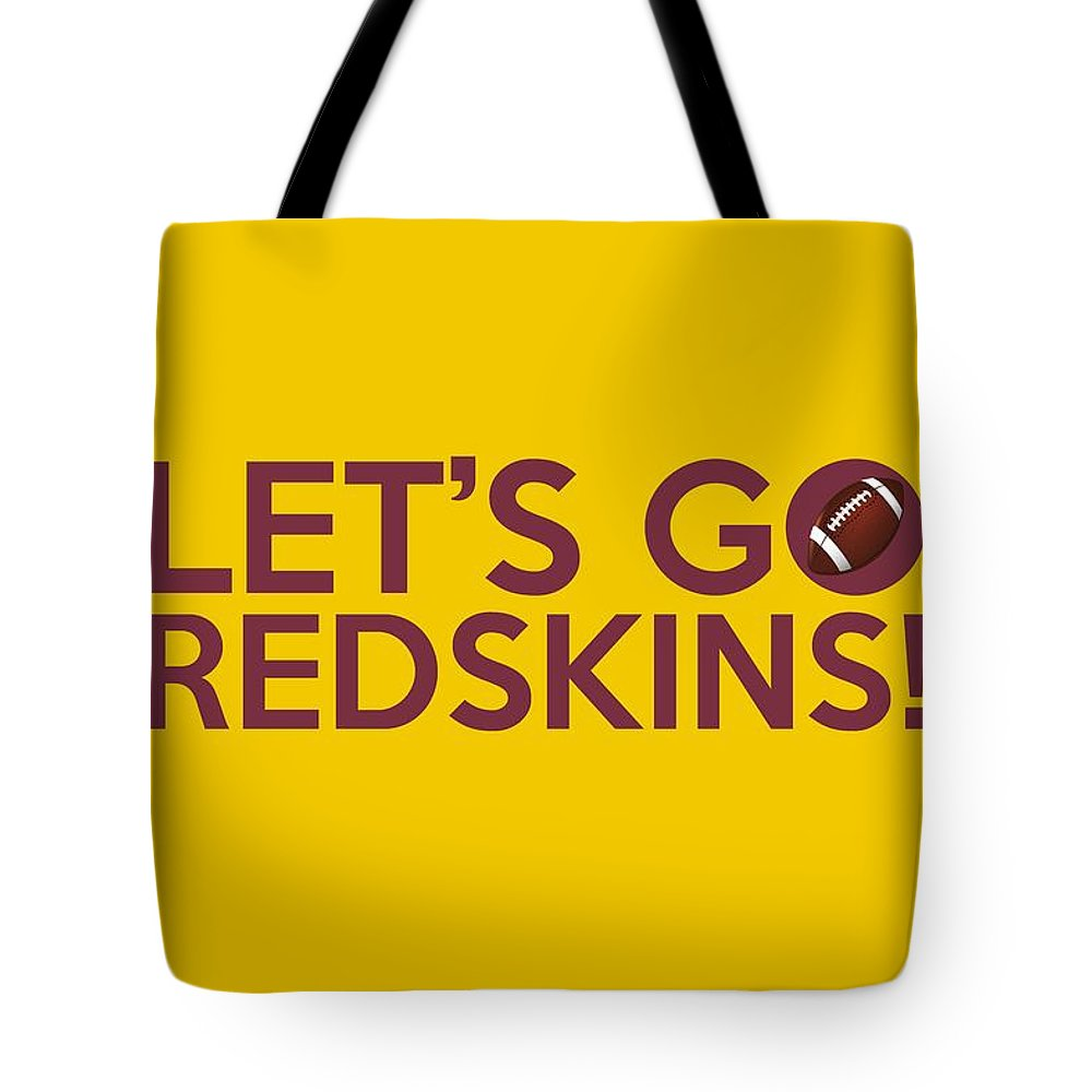 Washington Redskins Tote Bag featuring the painting Let s Go Redskins by  Florian Rodarte 998504a8a
