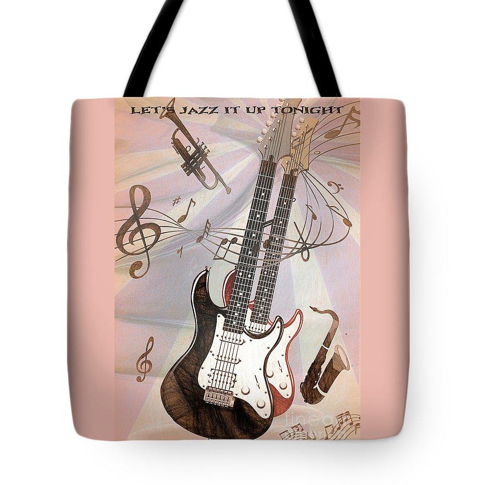 Musical Theme Digital Art Tote Bags