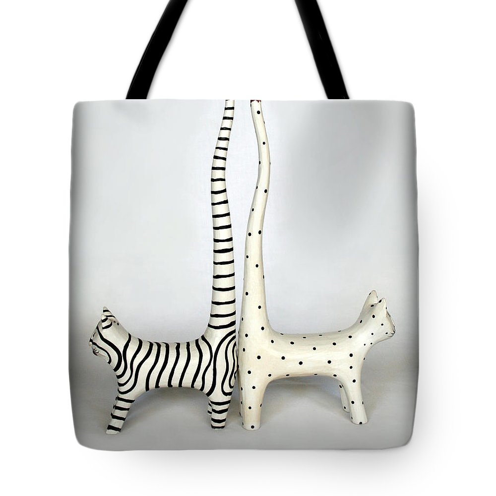 Cats Tote Bag featuring the photograph Lets Not by Marna Edwards Flavell