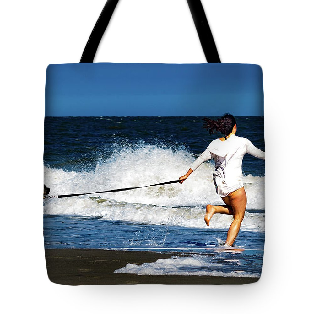 Beach Tote Bag featuring the photograph Let's Play In The Water by Ant Pruitt