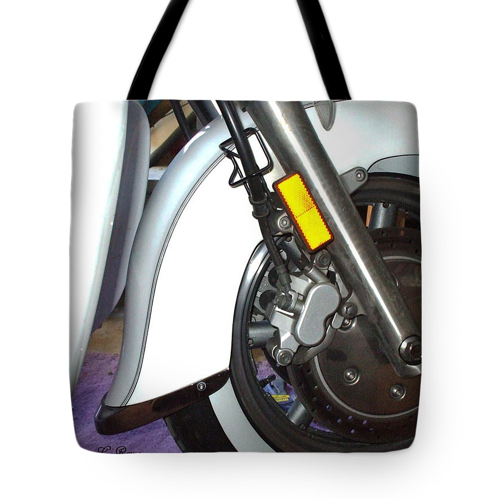 Motorcycle Tote Bag featuring the photograph Lets Roll by Shana Rowe Jackson