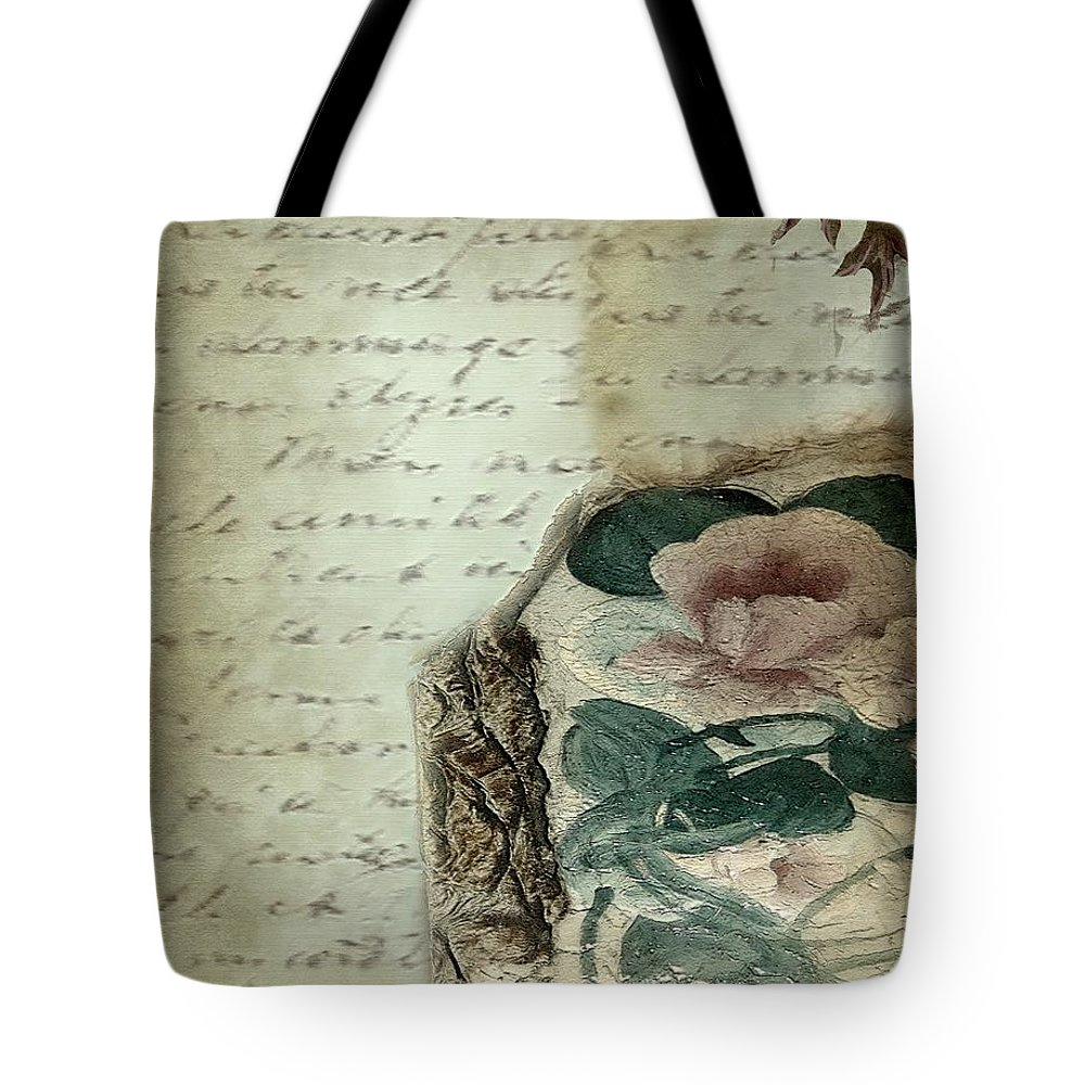 Antique Tote Bag featuring the painting Letter From India by RC DeWinter