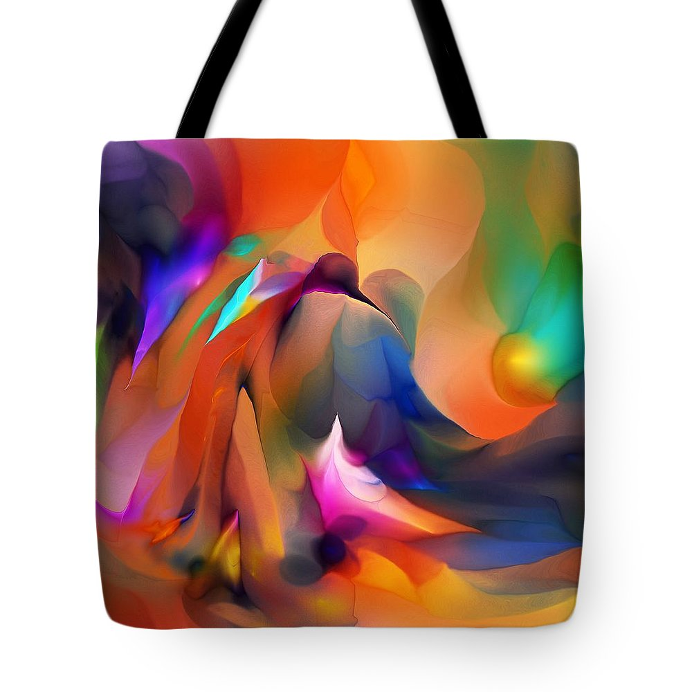 Fine Art Tote Bag featuring the digital art Letting Go by David Lane