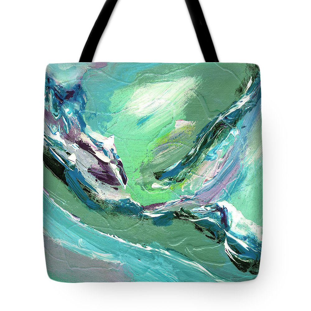 Abstract Tote Bag featuring the painting Levee Breach by Dominic Piperata
