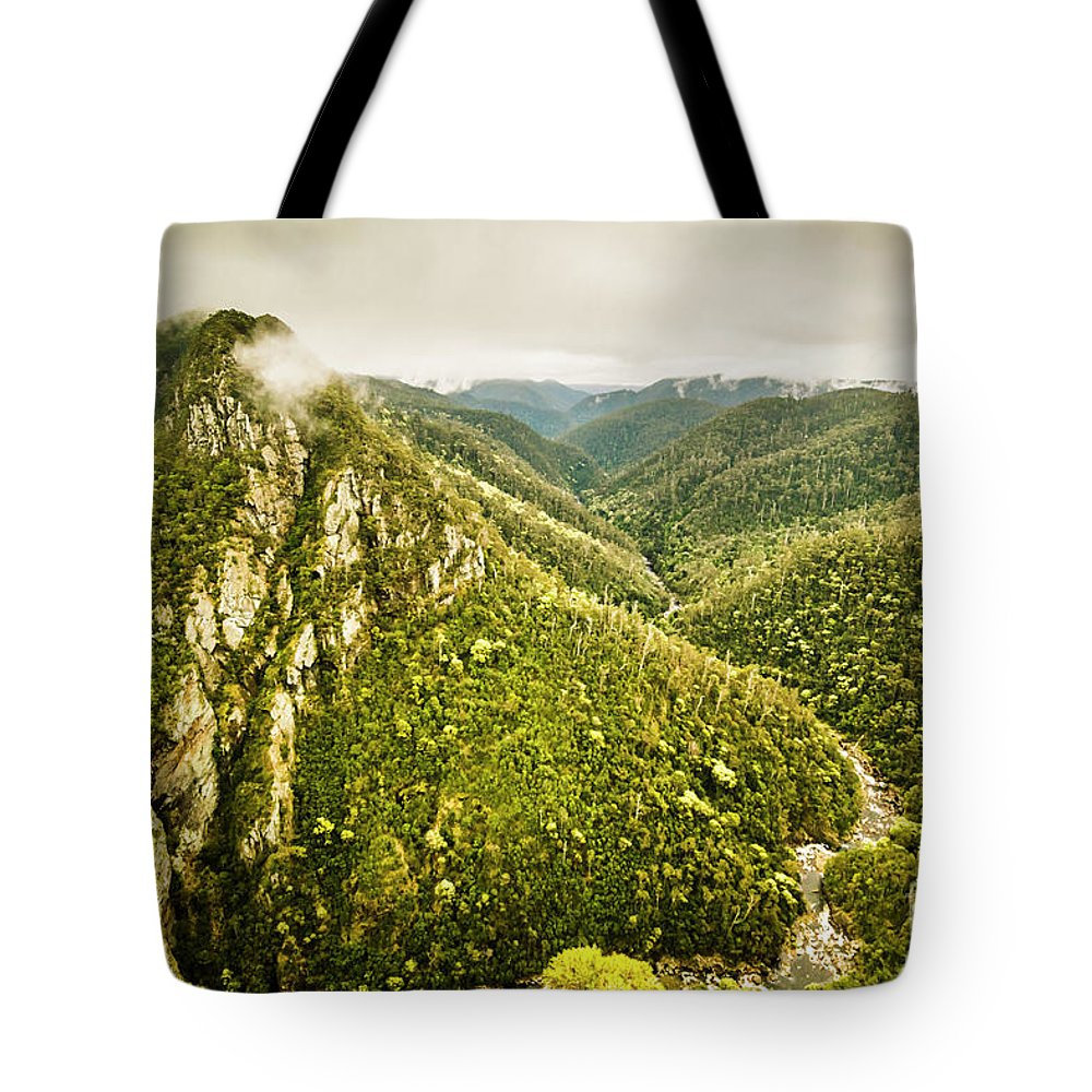 Nature Tote Bag featuring the photograph Leven Canyon Reserve Tasmania by Jorgo Photography - Wall Art Gallery