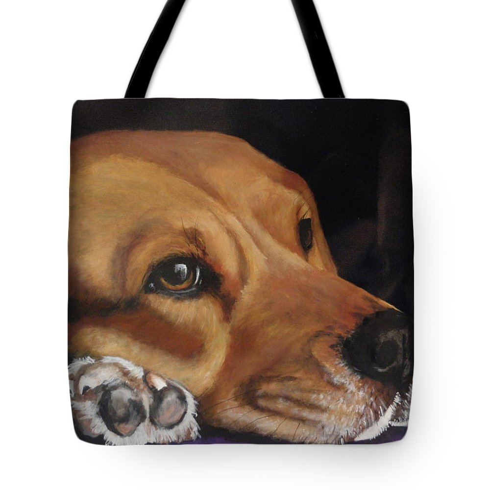 Beagle Tote Bag featuring the painting Levi by Carol Russell