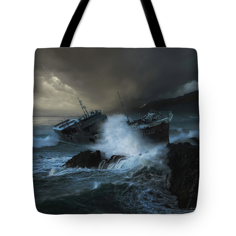 Sea Tote Bag featuring the photograph Leviathan by Michal Karcz