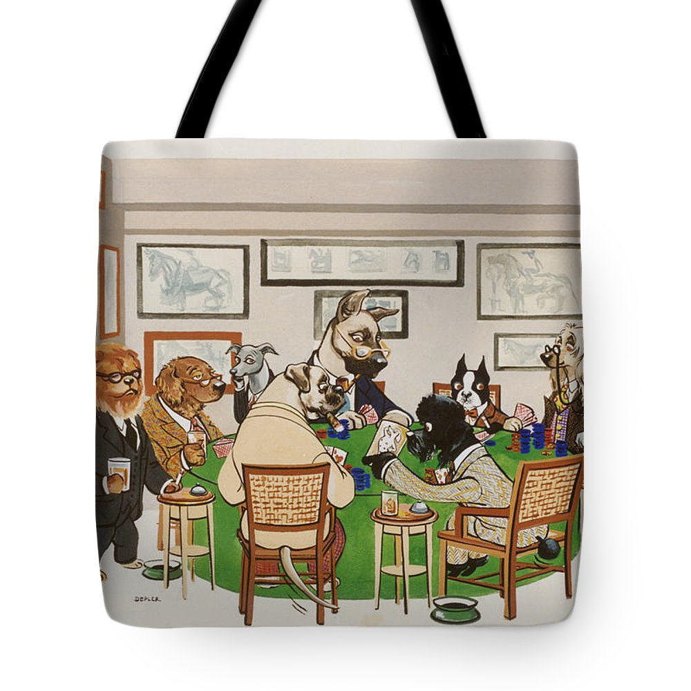 Poker Tote Bag featuring the painting Lexington Club by Constance Depler Coleman