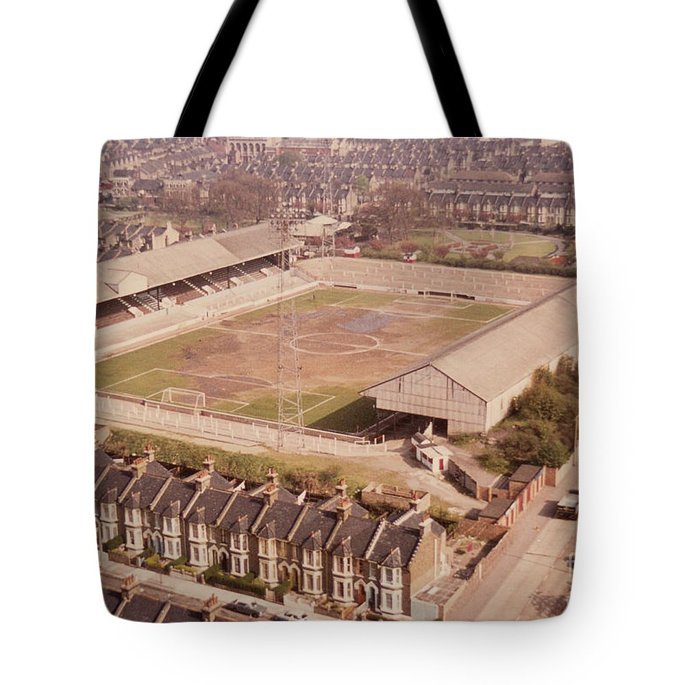 Tote Bag featuring the photograph Leyton Orient - Brisbane Road - Aerial View 1 - Looking South East by Legendary Football Grounds