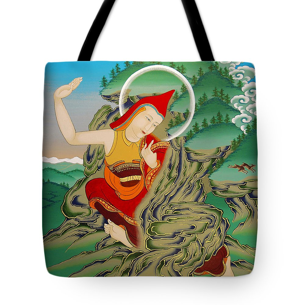 Lhalung Tote Bag featuring the painting Lhalung Pelgi Dorje by Sergey Noskov