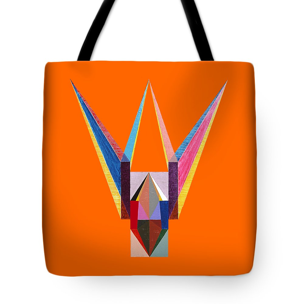 Painting Tote Bag featuring the painting Liaison by Michael Bellon