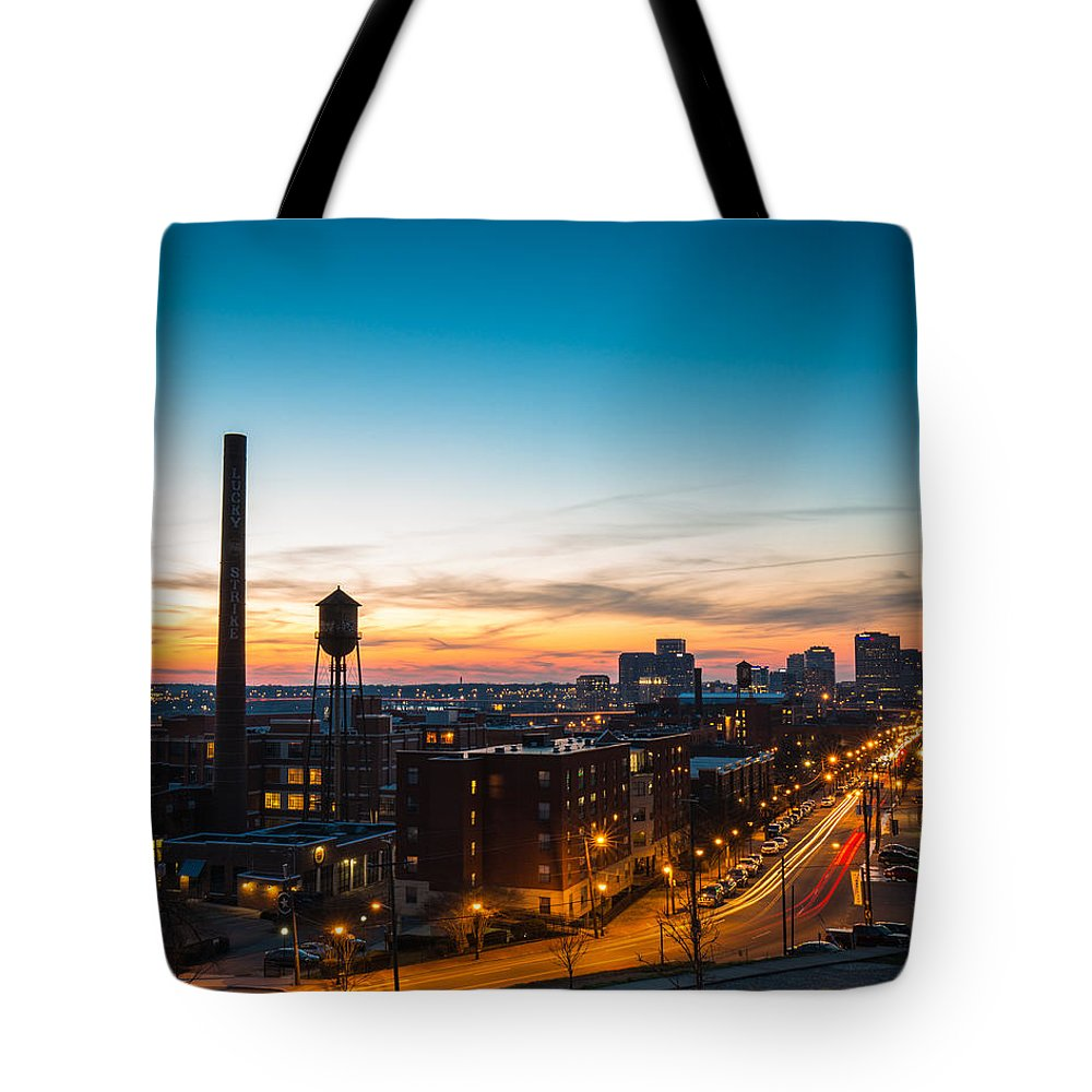 Flood Wall Tote Bag featuring the photograph Libbie Hill In March by Chris Marcussen
