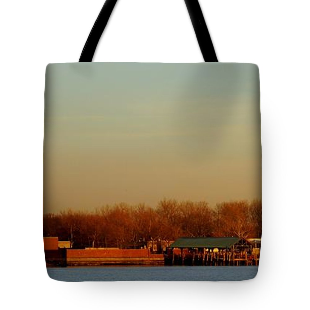Statue Tote Bag featuring the photograph Liberty Island And The Statue by John Wall
