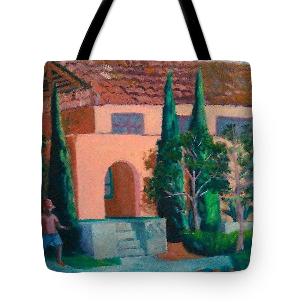 Landscape Tote Bag featuring the painting Liberty Station by Andrew Johnson