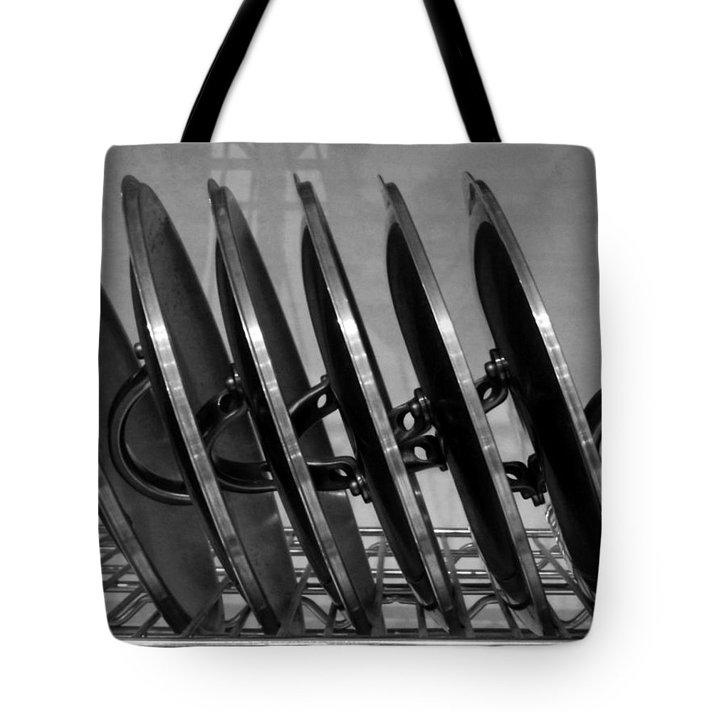 Lids Tote Bag featuring the photograph Lids by Kelly E Schultz