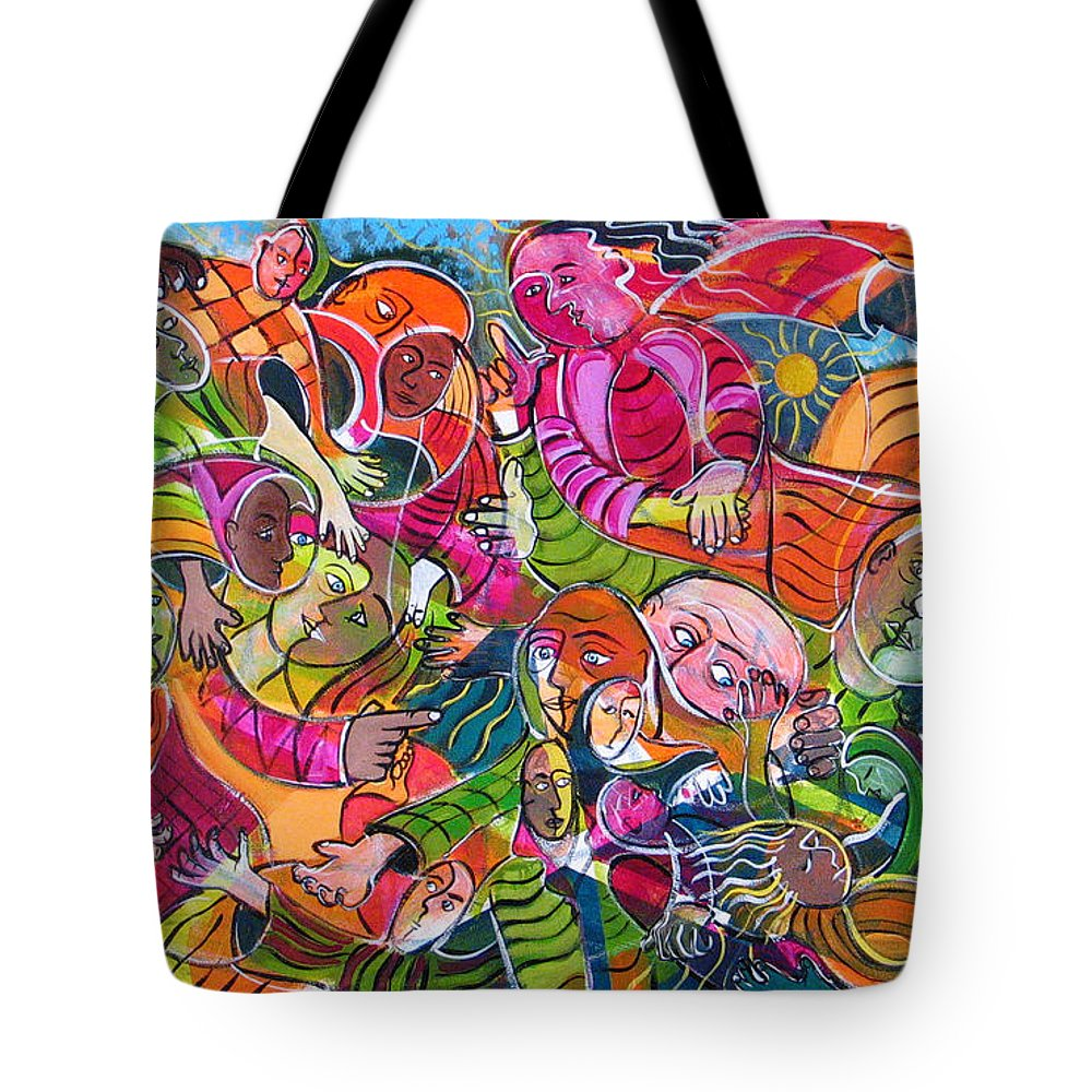 Life Tote Bag featuring the painting Life And Death by Rollin Kocsis