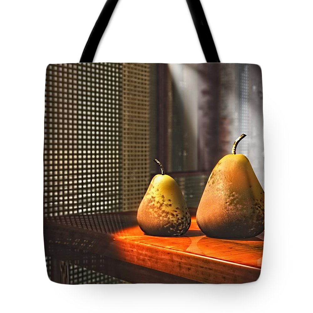 3d Tote Bag featuring the digital art Life As A Pear by Georgiana Romanovna