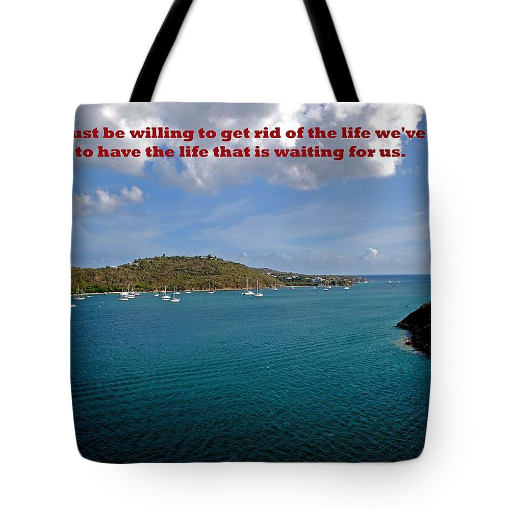 Water Tote Bag featuring the photograph Life Changes by Gary Wonning