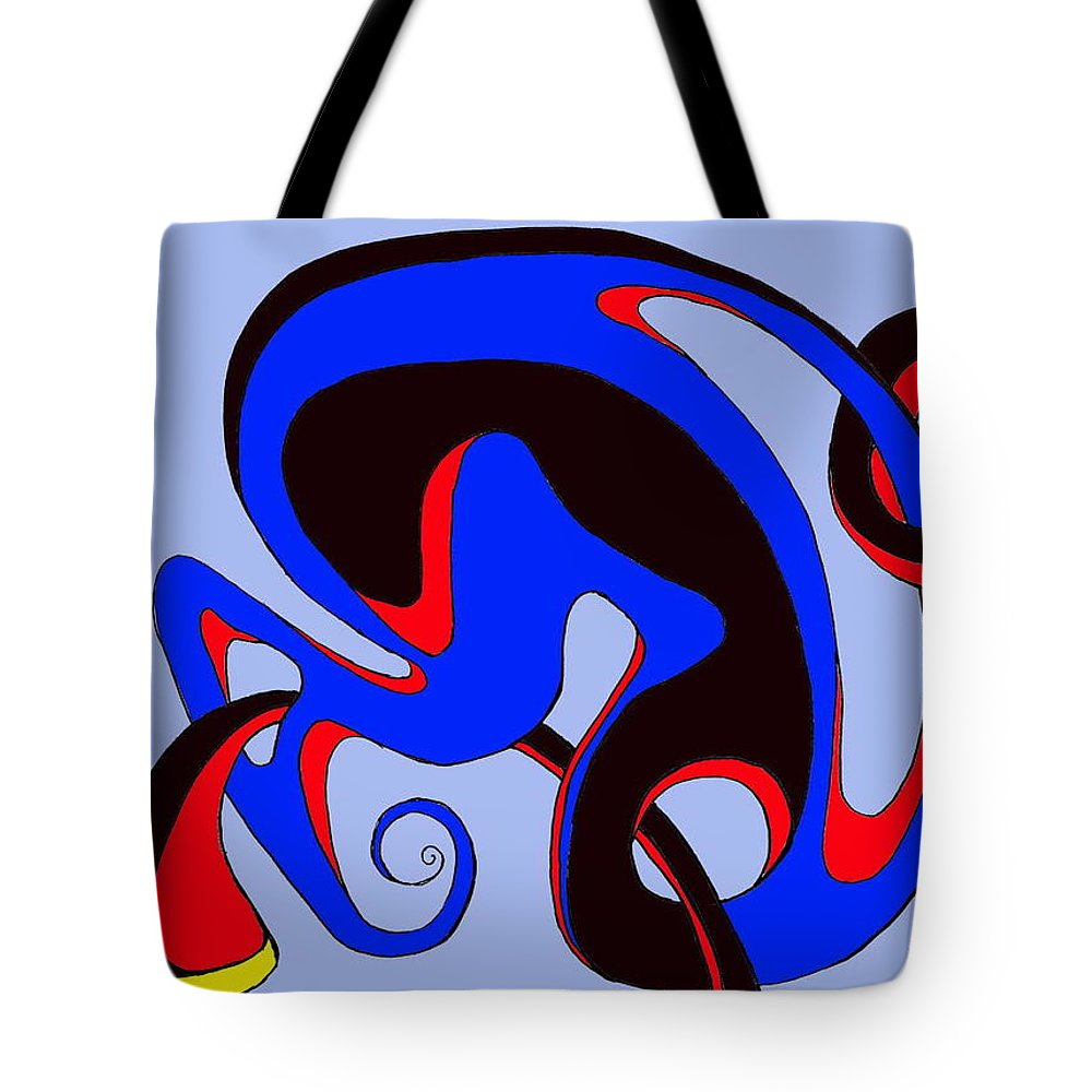 \ Tote Bag featuring the digital art Life Circuits by Helmut Rottler