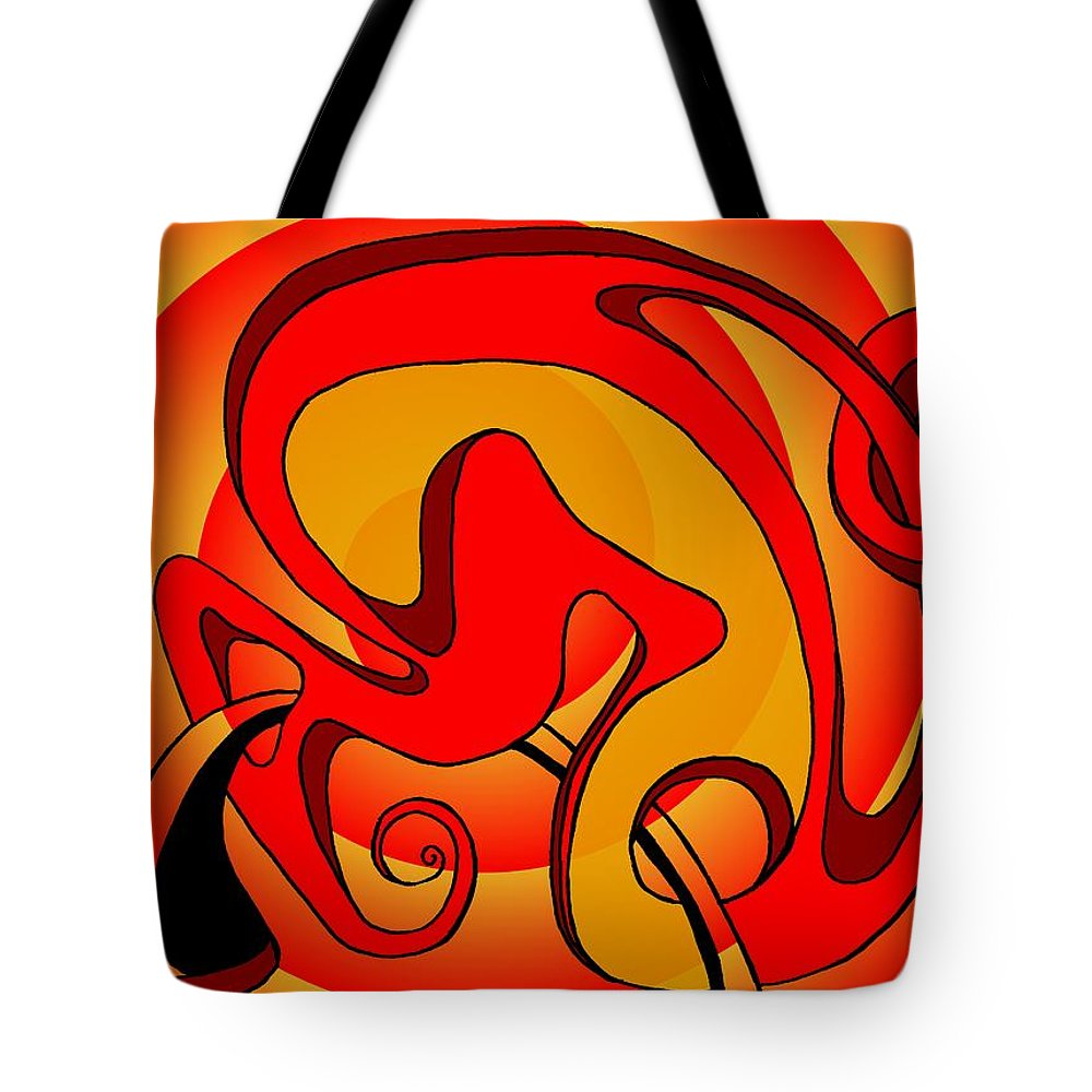 Lifecircuits Tote Bag featuring the digital art Life Circuits- The Symbiosis by Helmut Rottler