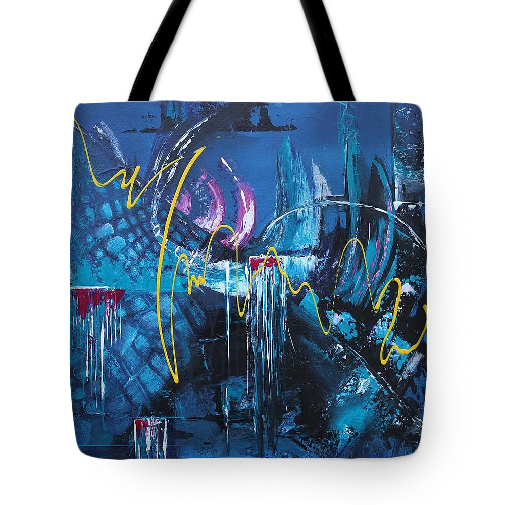 Abstract Tote Bag featuring the painting Life Energy by Galina Zimmatore