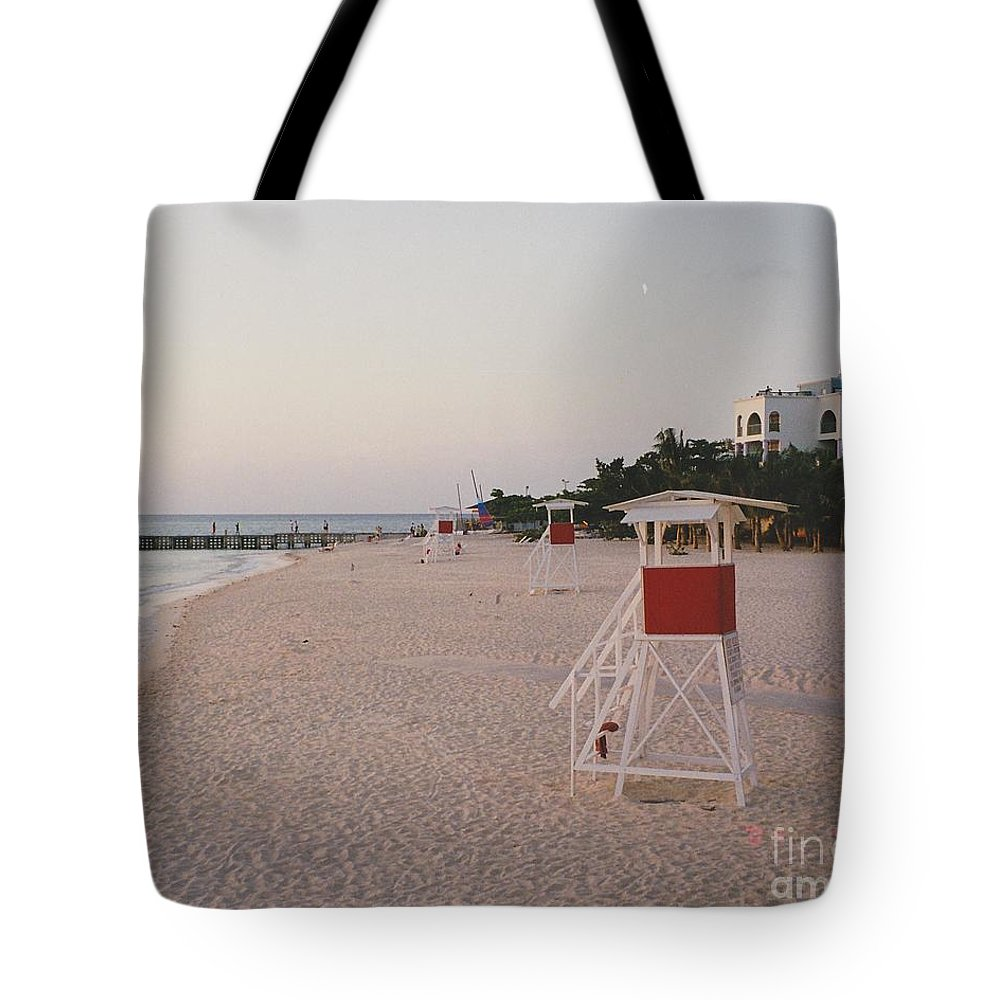 Water Tote Bag featuring the photograph Life Guard 3 D by Michelle Powell