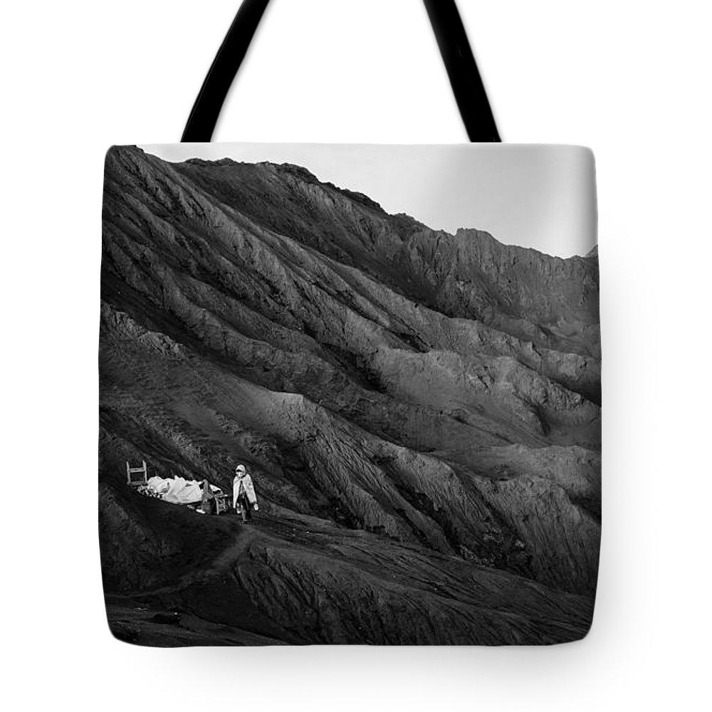 Bromo Tote Bag featuring the photograph Life In Bromo by Shaiful Zamri Masri