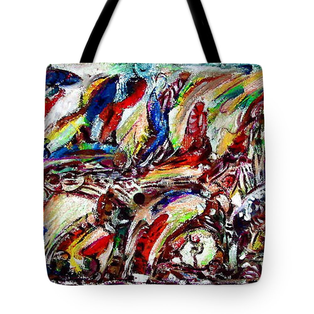 Imagination Tote Bag featuring the painting Life In Jenin by Robert Gravelin