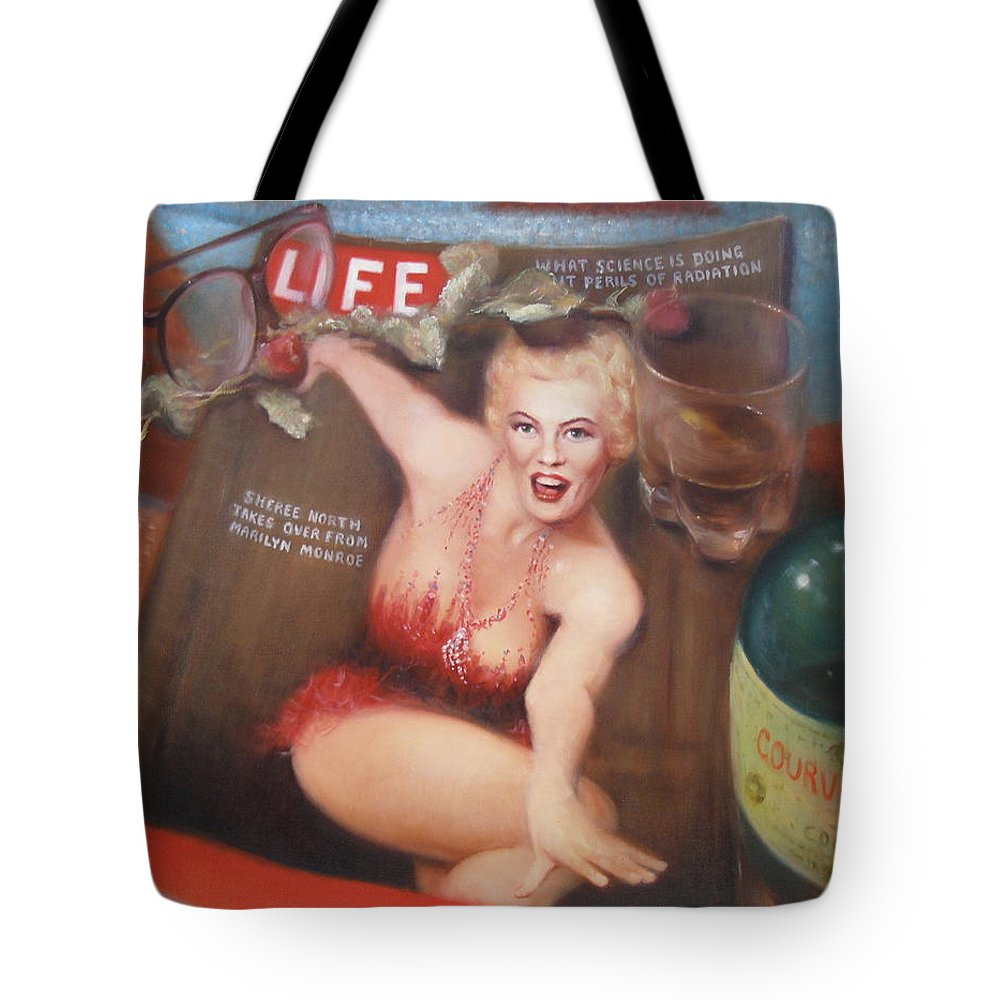 Realism Tote Bag featuring the painting Life In The Fifties by Donelli DiMaria