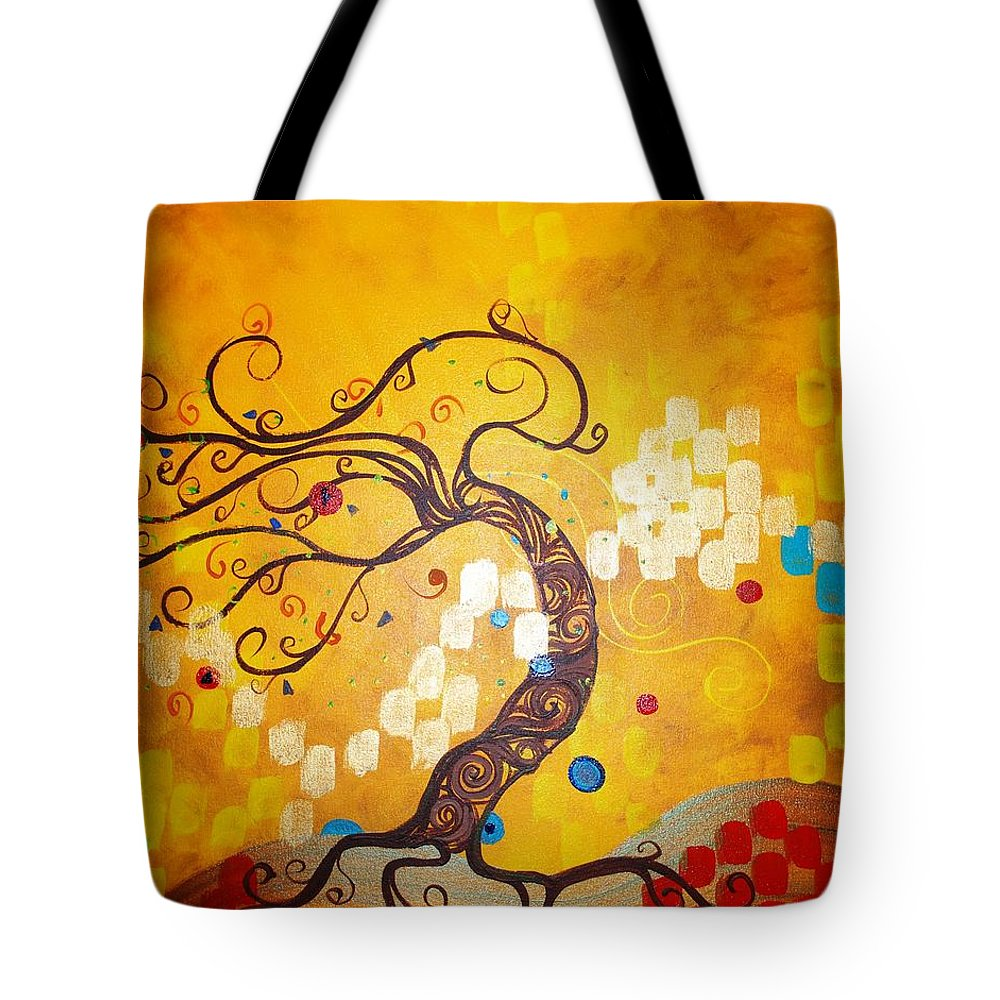 Tote Bag featuring the painting Life Is A Ball by Stefan Duncan