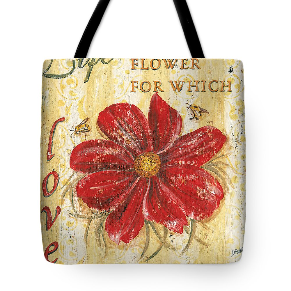 Flower Tote Bag featuring the painting Life is the Flower by Debbie DeWitt