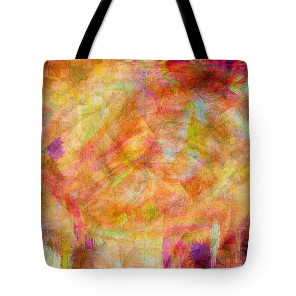 Abstracts Tote Bag featuring the digital art Life by Linda Sannuti