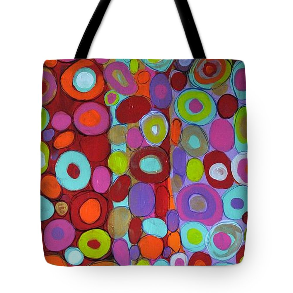 Circle Art Tote Bag featuring the painting Life Line by Michael Clifford Shpack