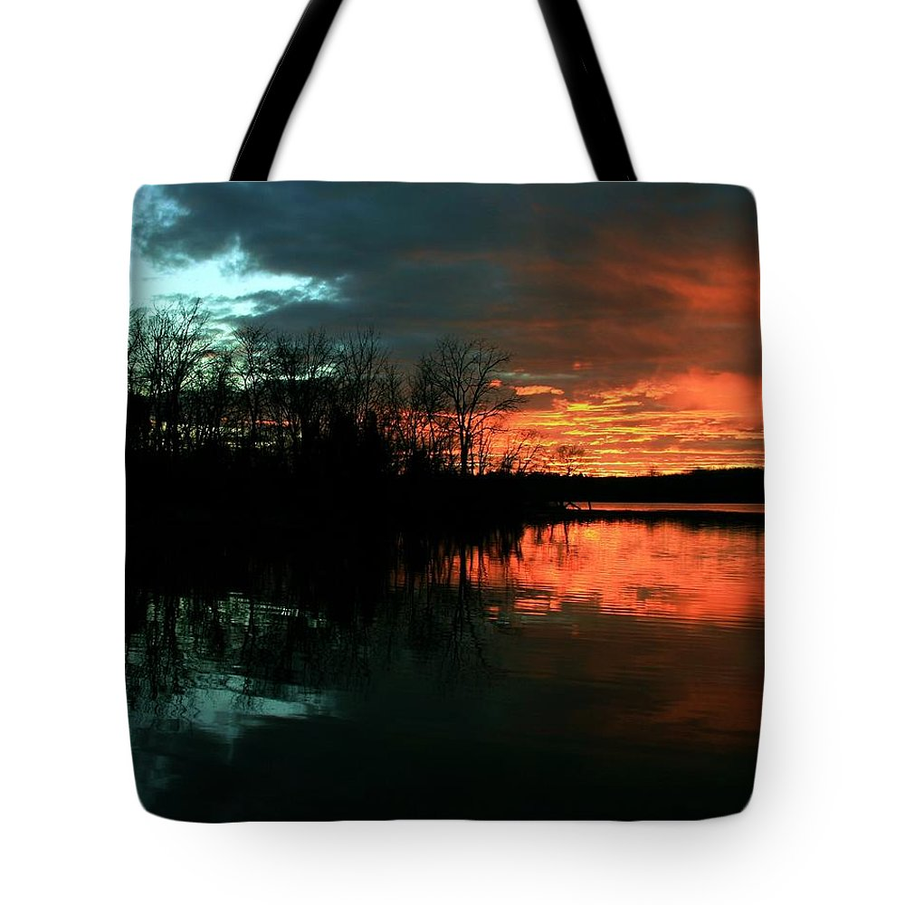 Landscape Tote Bag featuring the photograph Life by Mitch Cat