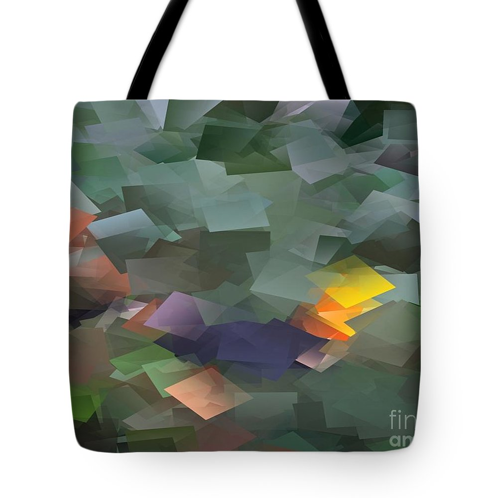 Yellow Tote Bag featuring the painting Life Squared by Vicki Lynn Sodora