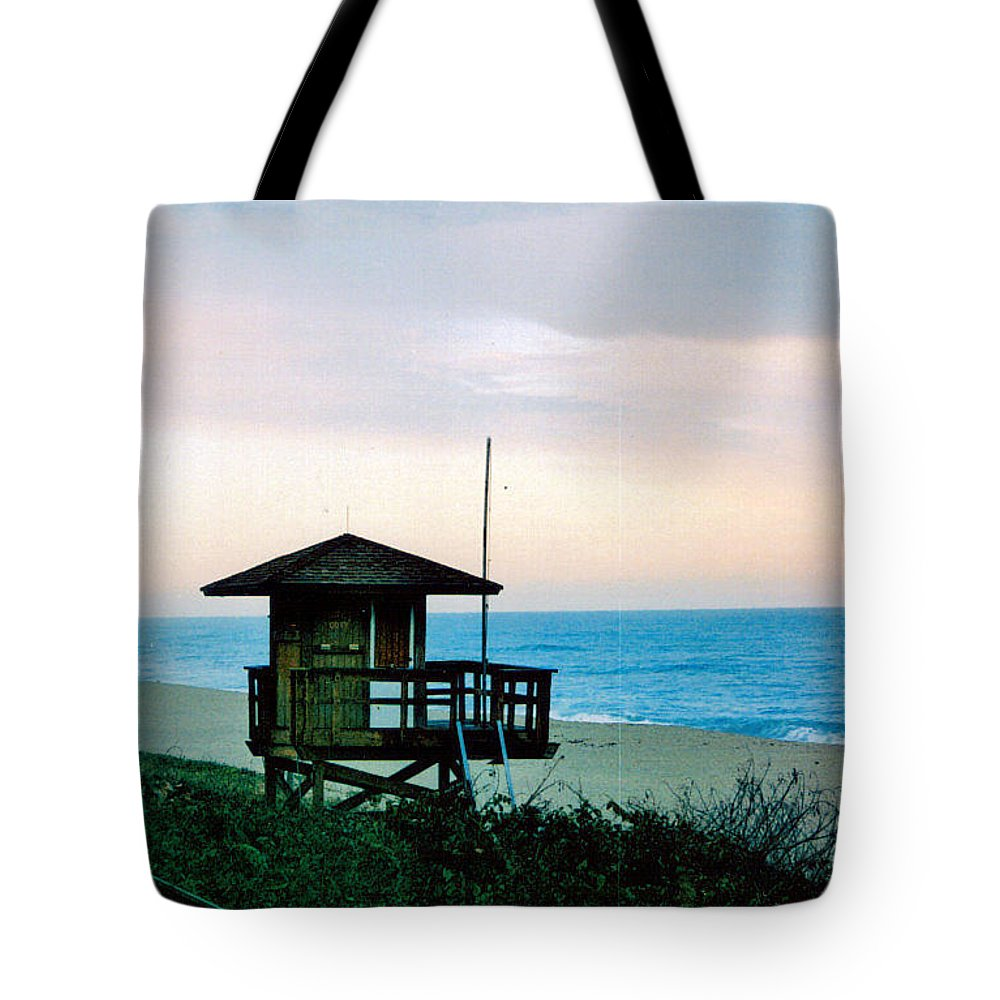 Beach Tote Bag featuring the photograph Life Unguarded by Vicki Lynn Sodora