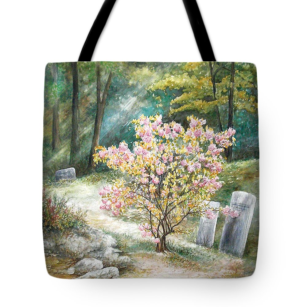 Landscape Tote Bag featuring the painting Life by Valerie Meotti
