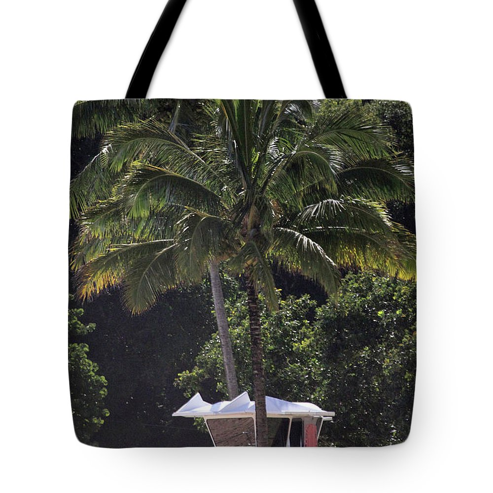 Tropical Tote Bag featuring the photograph Lifeguard Rescue Station by Mary Haber