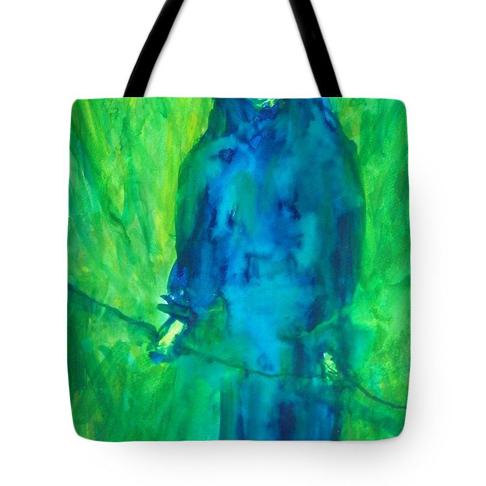 Abstract Tote Bag featuring the painting Lifeline by Judith Redman