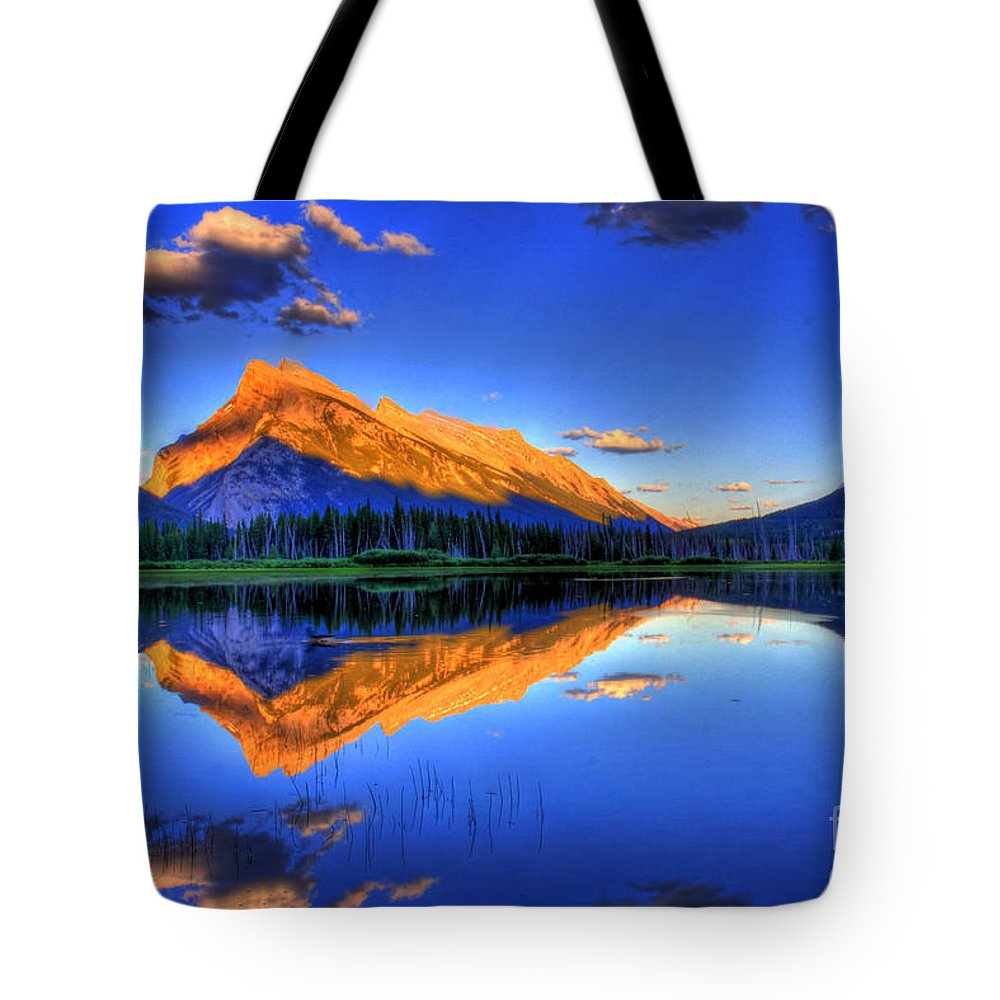 Mountain Tote Bag featuring the photograph Life's Reflections by Scott Mahon