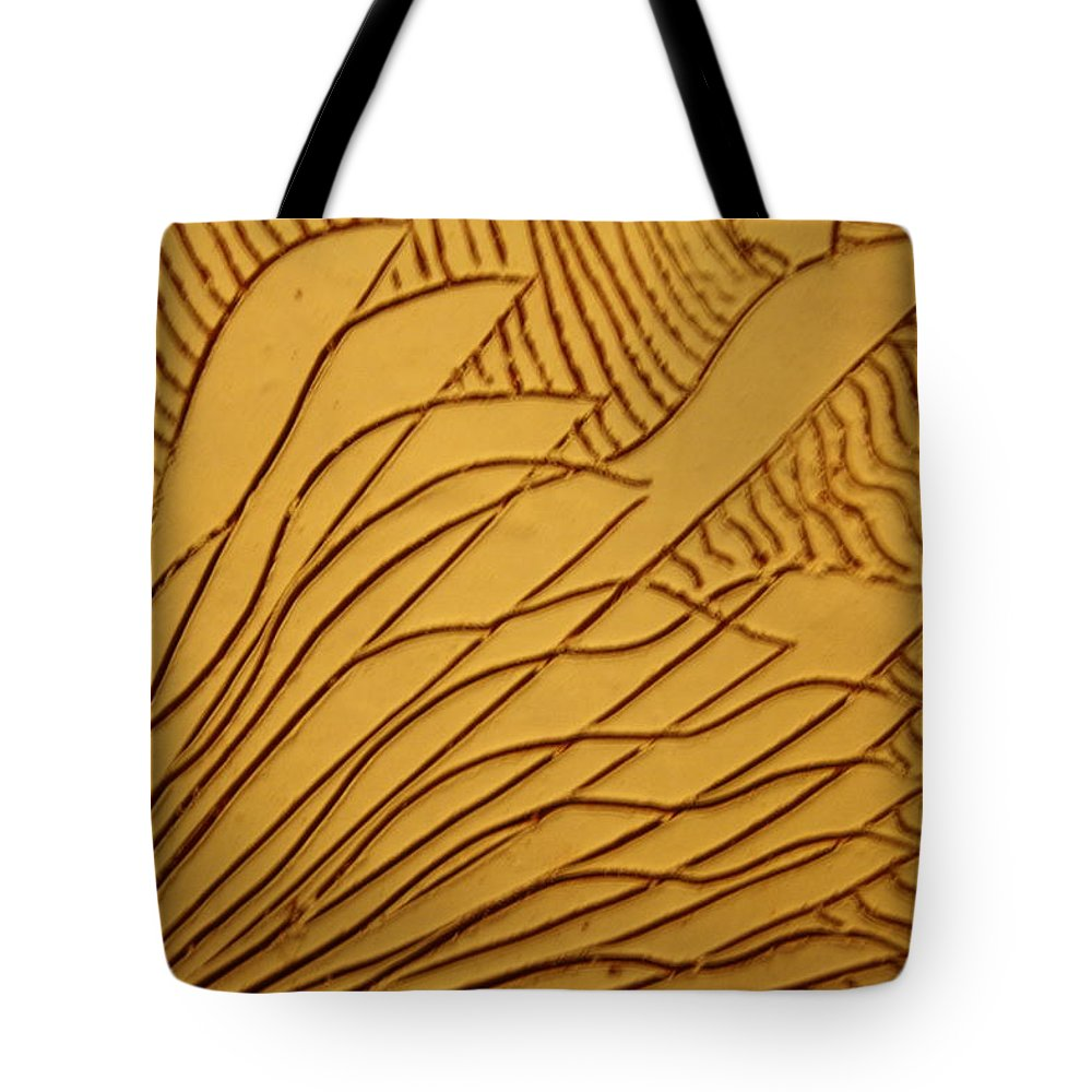 Jesus Tote Bag featuring the ceramic art Lifes Run - Tile by Gloria Ssali