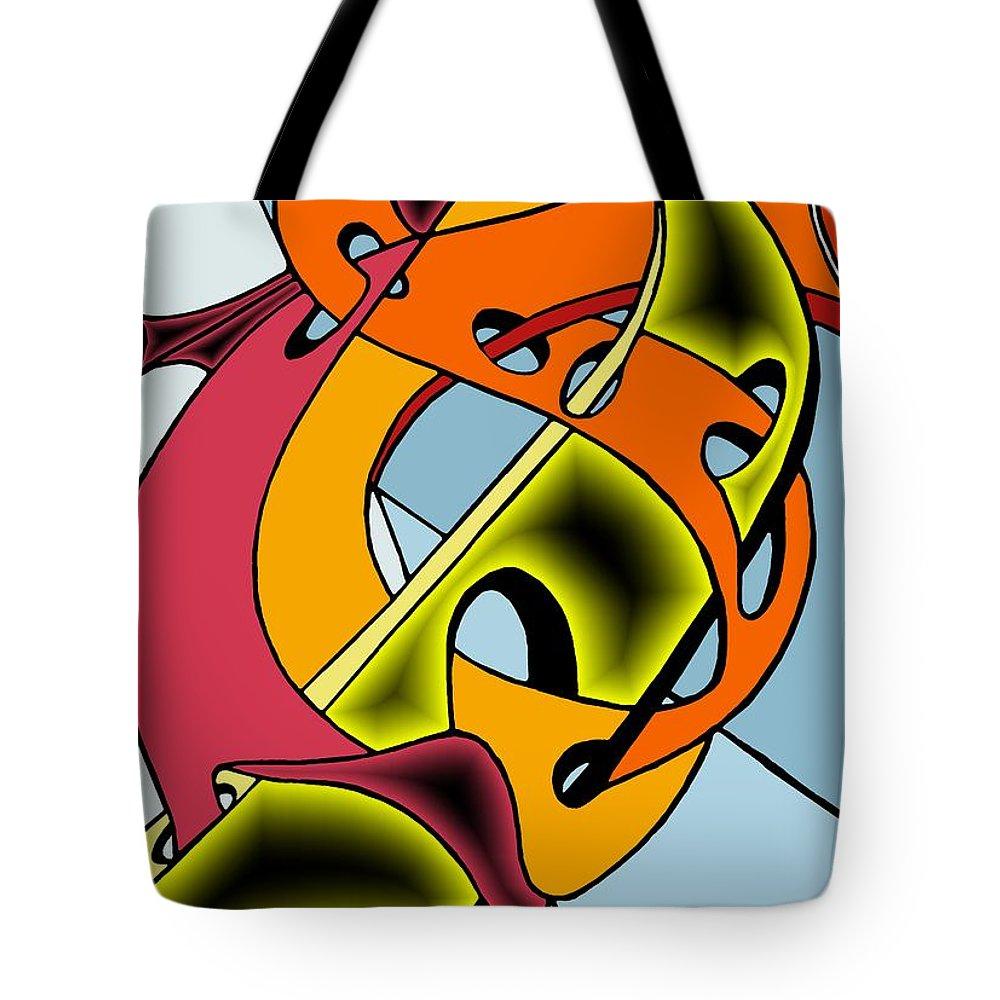 Lifeways Tote Bag featuring the digital art Lifeways by Helmut Rottler
