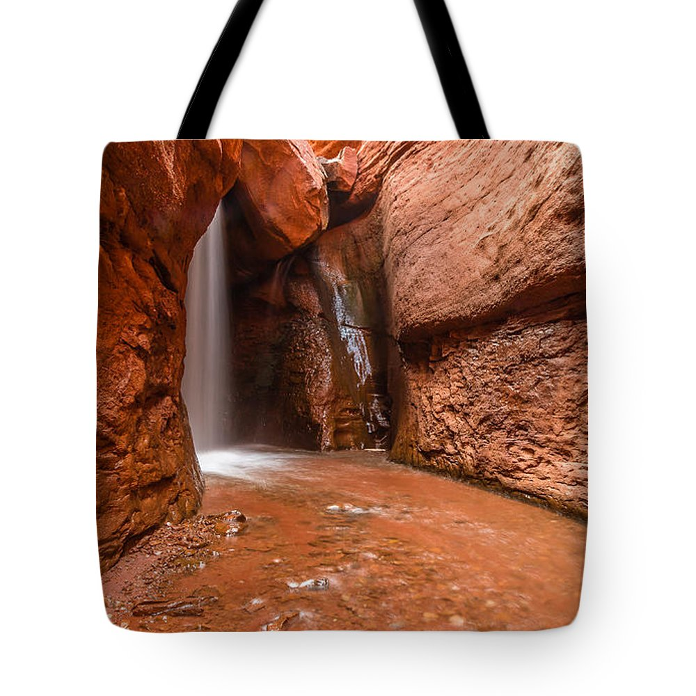 Trailsxposed Tote Bag featuring the photograph Light At The End Of The Tunnel by Gina Herbert