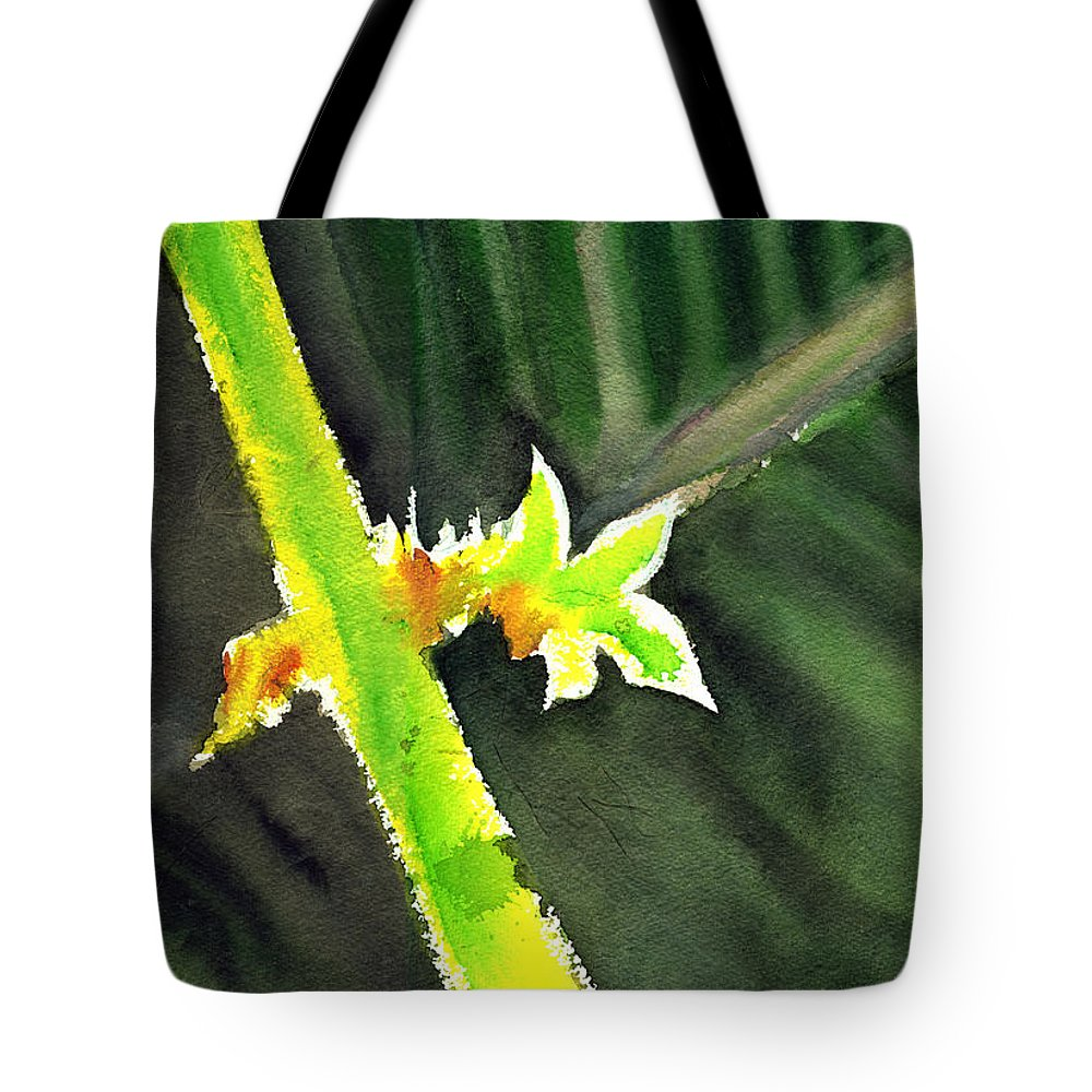 Water Color Tote Bag featuring the painting Light Branch by Anil Nene