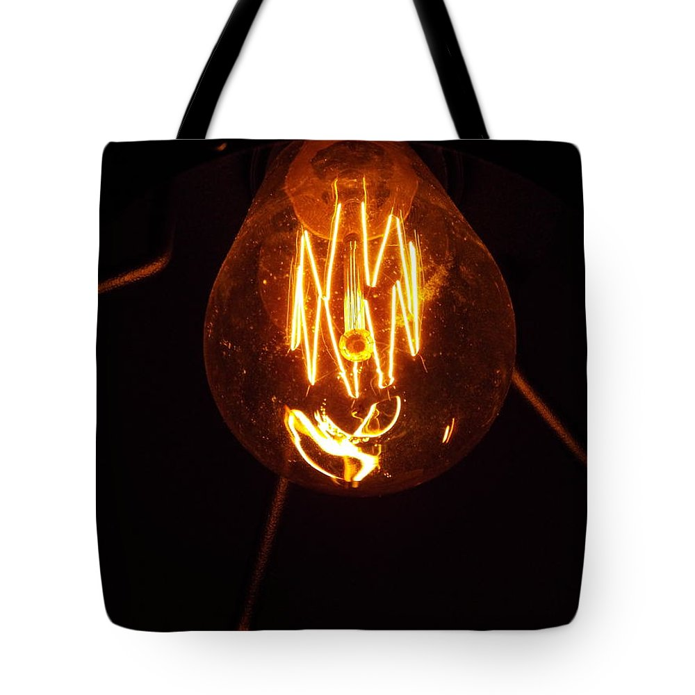 Light Bulb Tote Bag featuring the photograph Light Bulb 002 by Helena Jajcevic