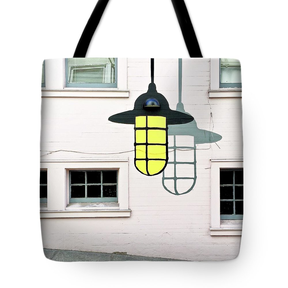 Tote Bag featuring the photograph Light Bulb Mural by Julie Gebhardt