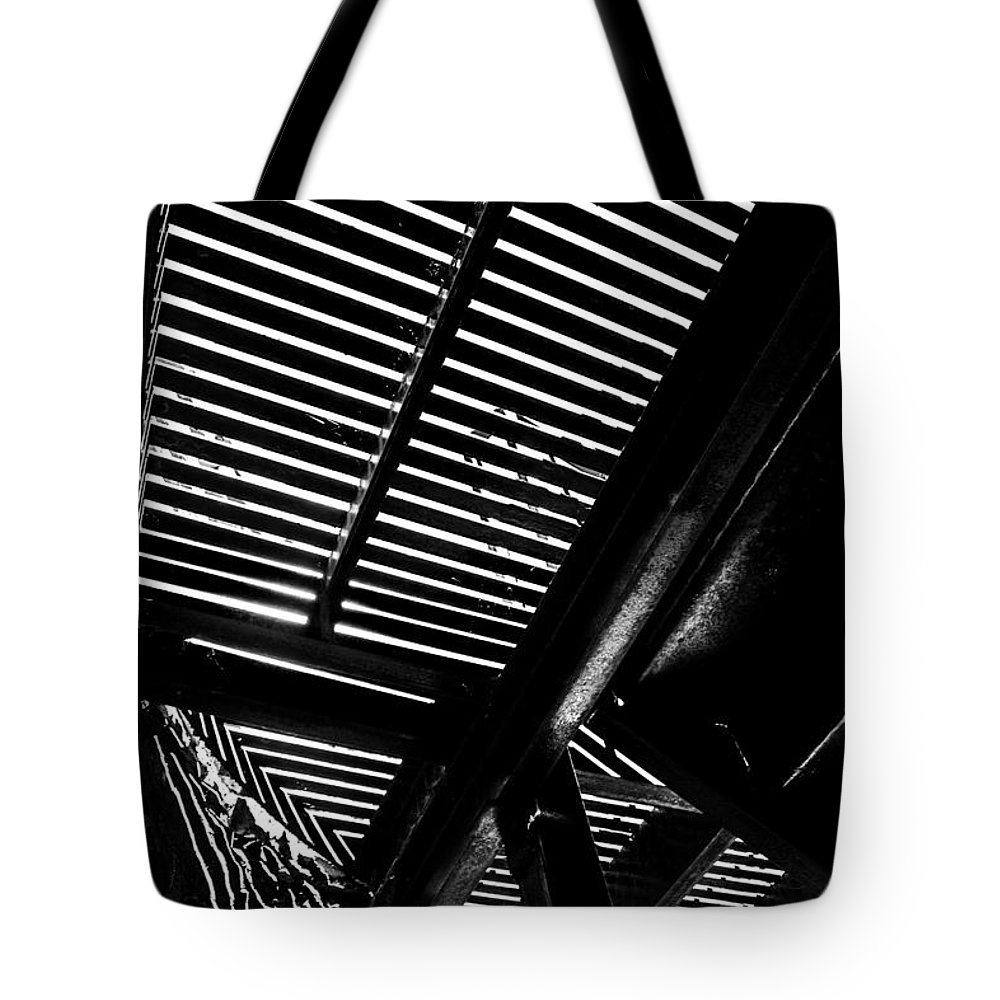 Light Falls Thru Tote Bag featuring the photograph Light Falls Thru by Karol Livote
