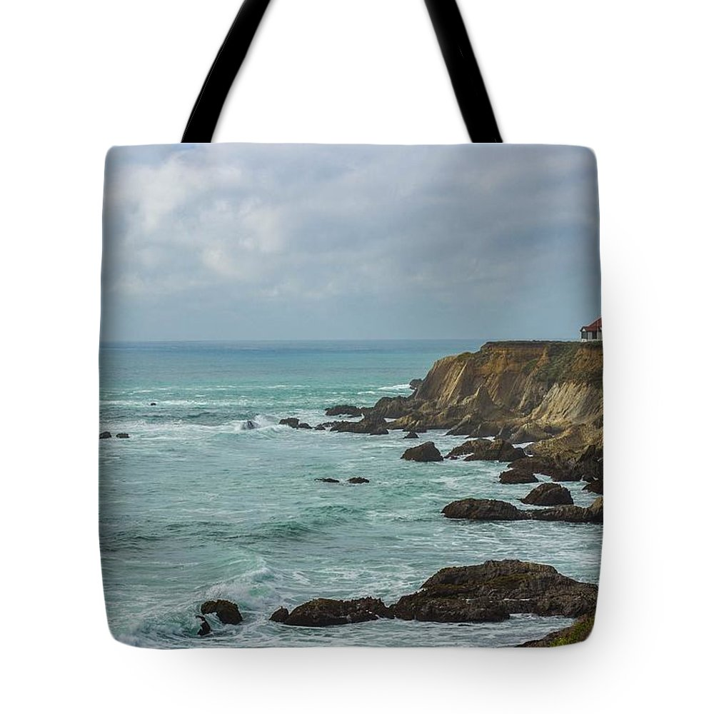 Landscape Tote Bag featuring the photograph Light House by Cassandra Steele
