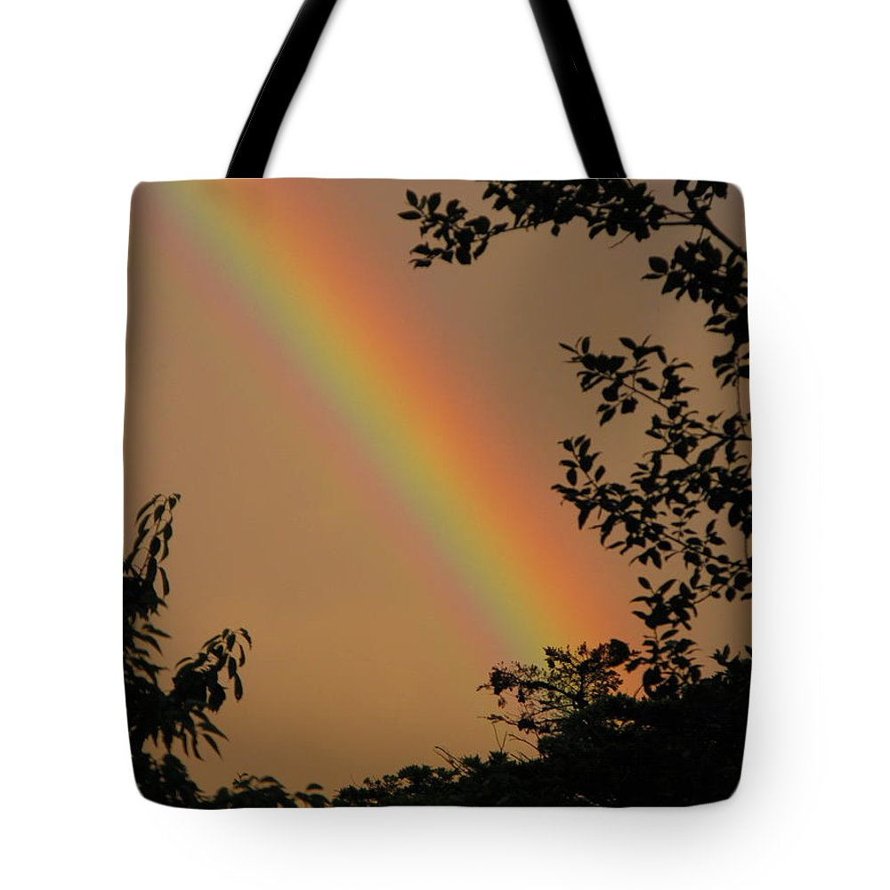 Rainbow Tote Bag featuring the photograph Light by Maria Joy