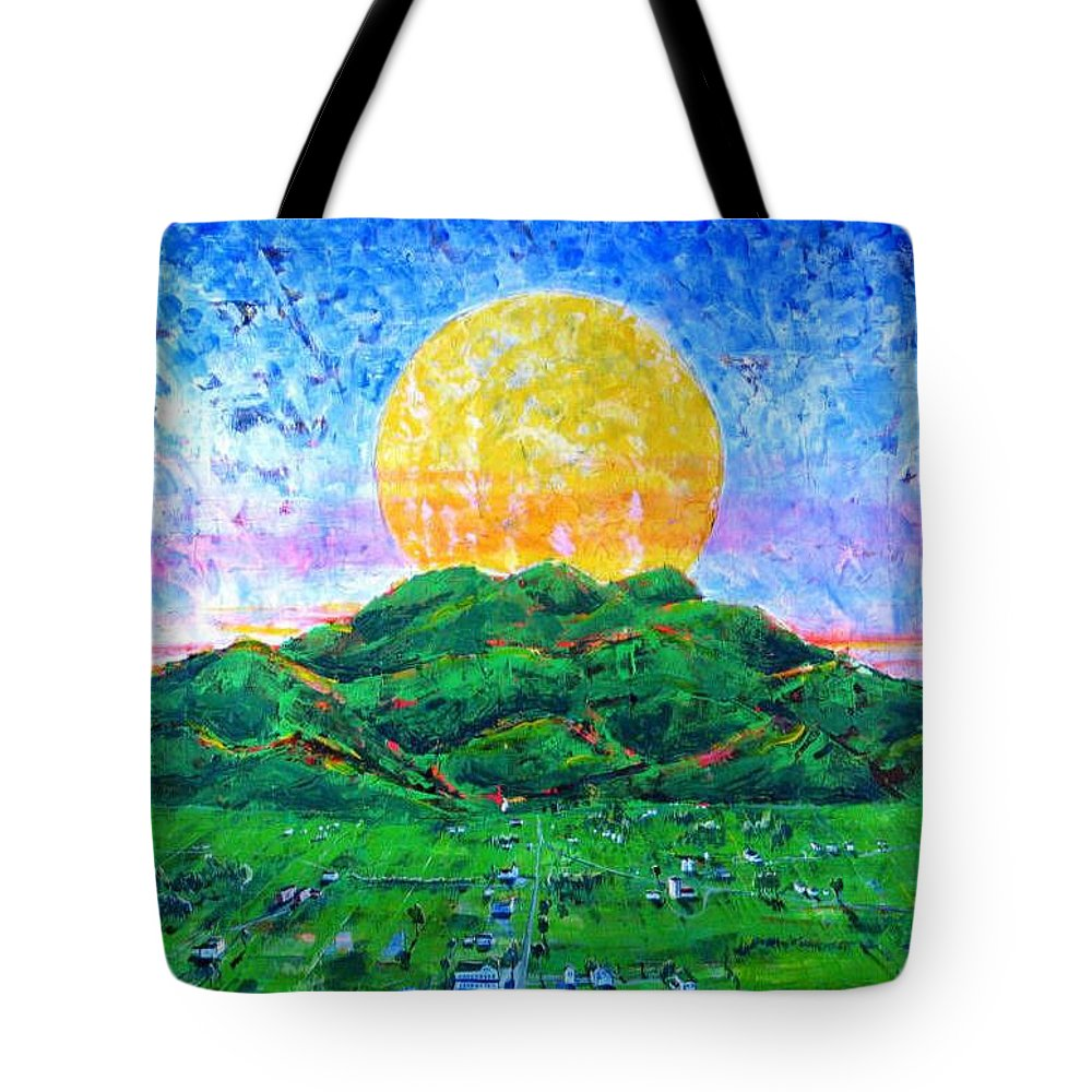 Sun Tote Bag featuring the painting Light Of Day by Rollin Kocsis